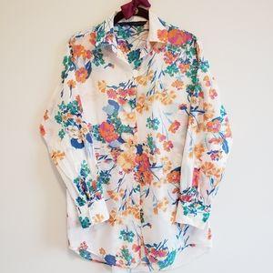 Zara Long Lightweight Floral Shirt